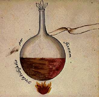 Volatilisation Through Dryness From Cabala Mineralis Manuscript, Hermetic Emblems From Manuscripts 1